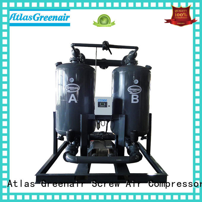 high end desiccant dryer with an air compressed actuated valve for tropical area