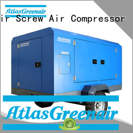 efficient portable rotary screw compressor with intelligent control system for sale