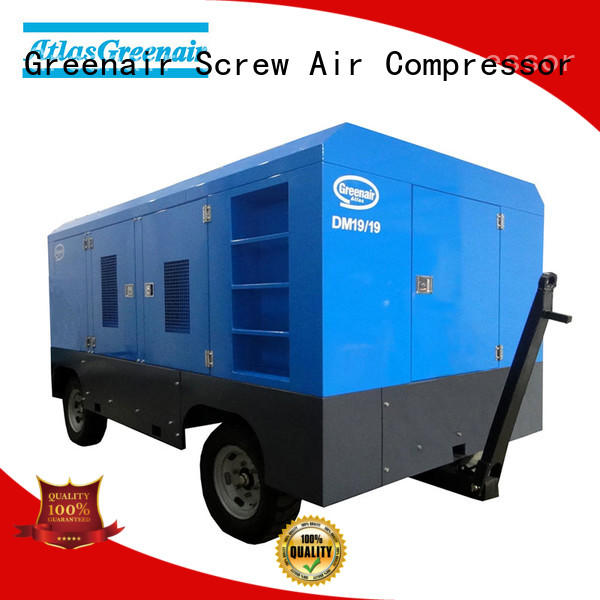 Atlas Greenair Screw Air Compressor dm diesel air compressor suppliers with intelligent control system for sale