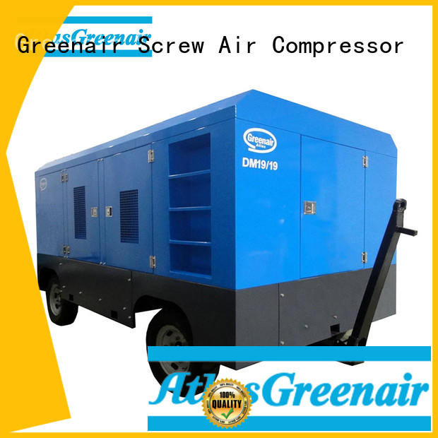 Atlas Greenair Screw Air Compressor screw diesel engine driven air compressor with filtration and cooling system for tropical area