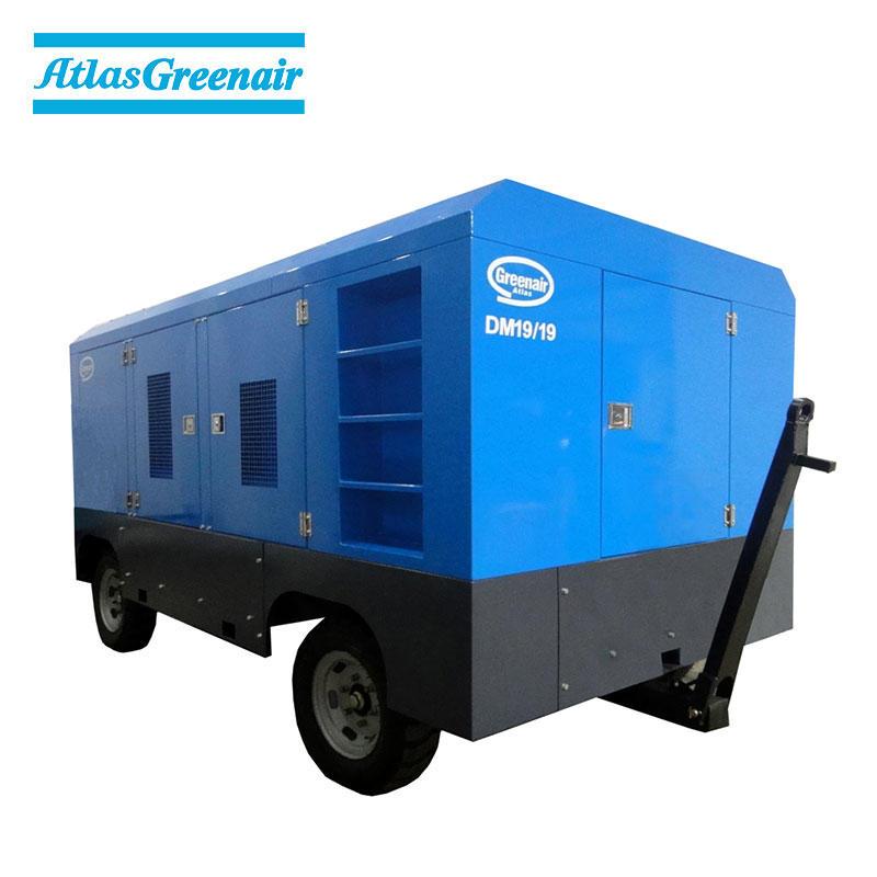 DM Series Portable Diesel Engine Mobile Rotary Screw Air Compressor