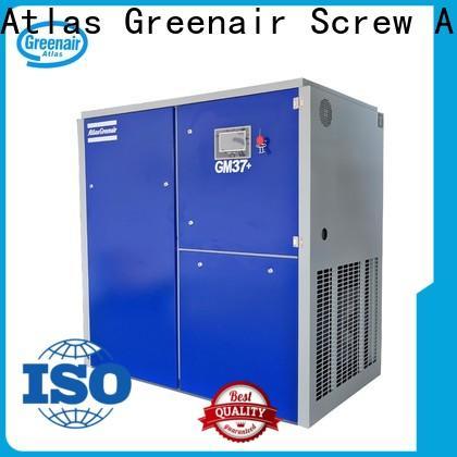 Atlas Greenair Screw Air Compressor customized variable speed air compressor with four pole motor customization