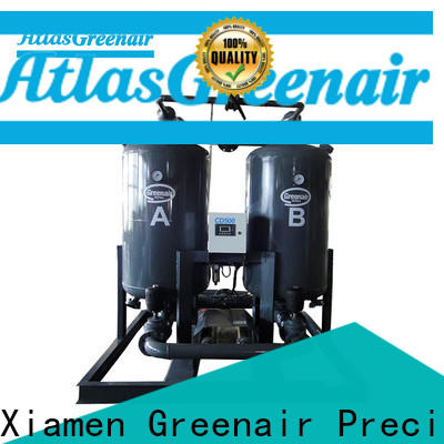 Atlas Greenair Screw Air Compressor desiccant air dryer with a special silencer for a high precision operation