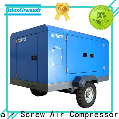 Atlas Greenair Screw Air Compressor high end portable screw compressor with intelligent control system for tropical area