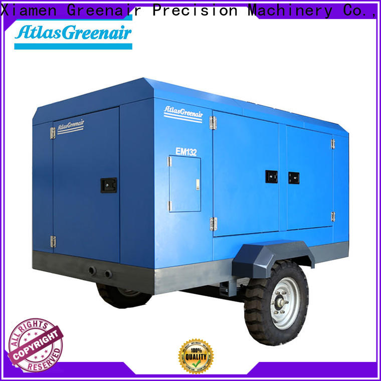 Atlas Greenair Screw Air Compressor portable screw compressor factory for tropical area