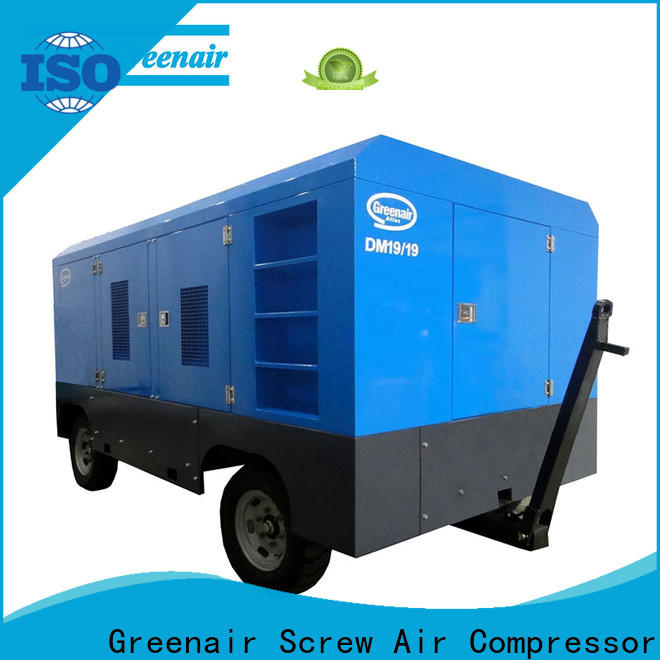 Atlas Greenair Screw Air Compressor top mobile air compressor with filtration and cooling system design