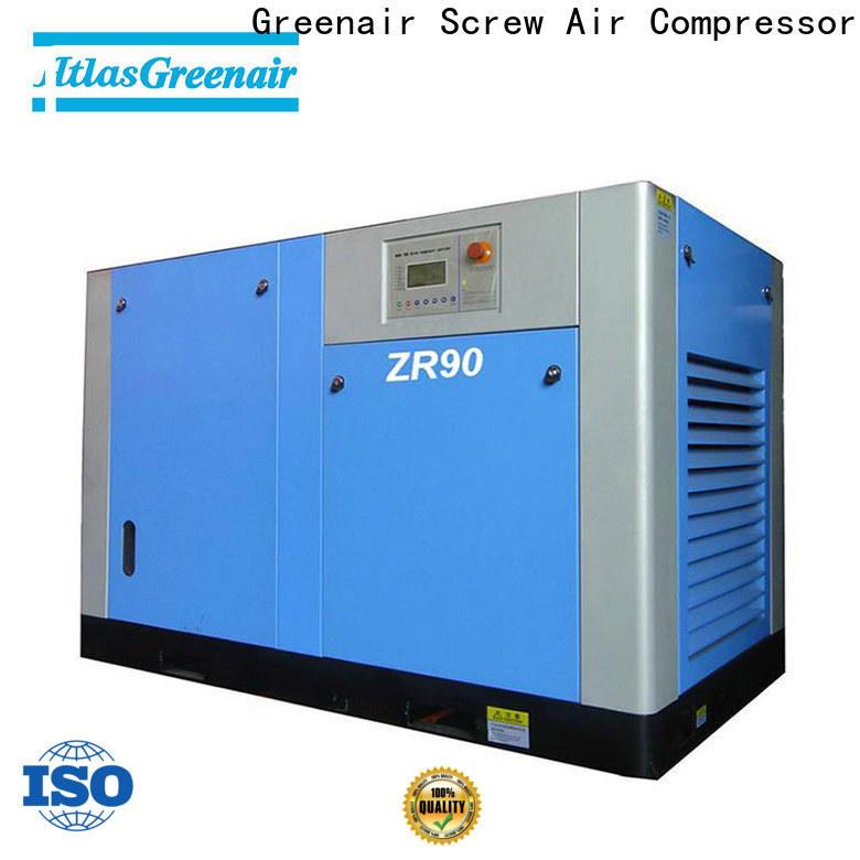 Atlas Greenair Screw Air Compressor top oil free rotary screw air compressor factory customization