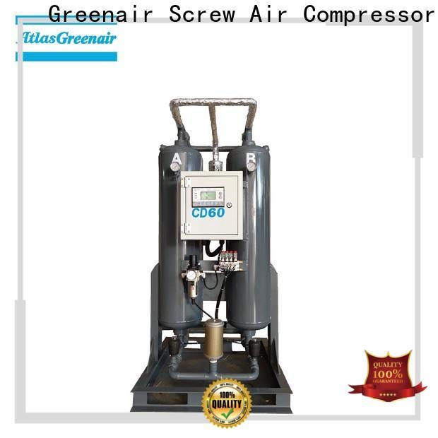 Atlas Greenair Screw Air Compressor latest compressed air dryer with an air compressed actuated valve for sale