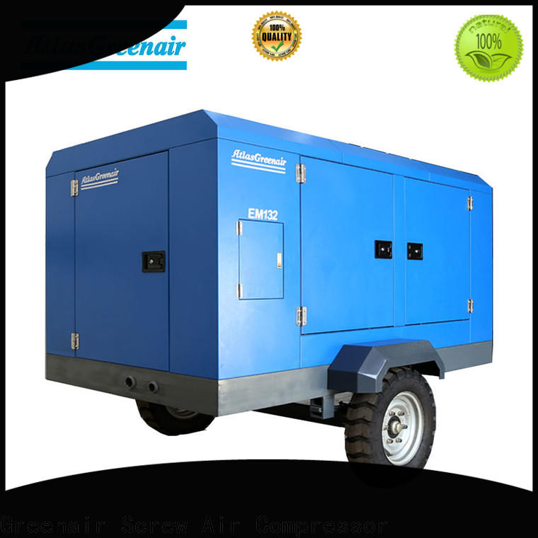 high end electric rotary screw air compressor with three stage oil-air separator for sale