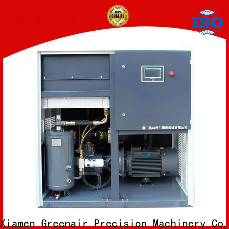 Atlas Greenair Screw Air Compressor top variable speed air compressor with an asynchronous motor for sale