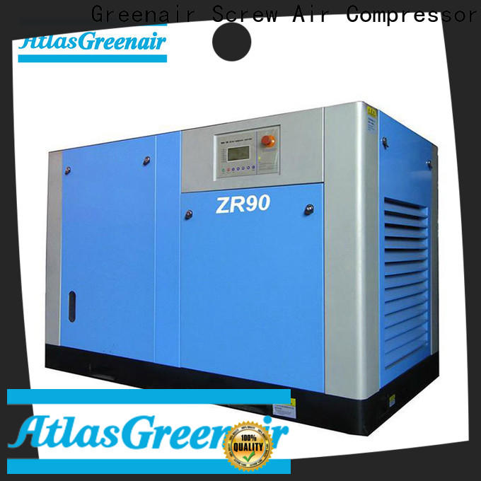Atlas Greenair Screw Air Compressor popular oil free rotary screw air compressor company for sale