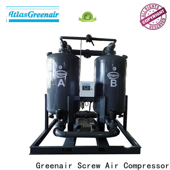 Atlas Greenair Screw Air Compressor high end desiccant dryer factory for tropical area