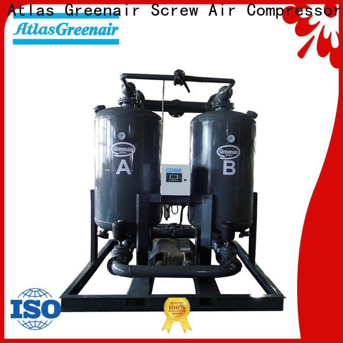 Atlas Greenair Screw Air Compressor latest adsorption air dryer company for a high precision operation