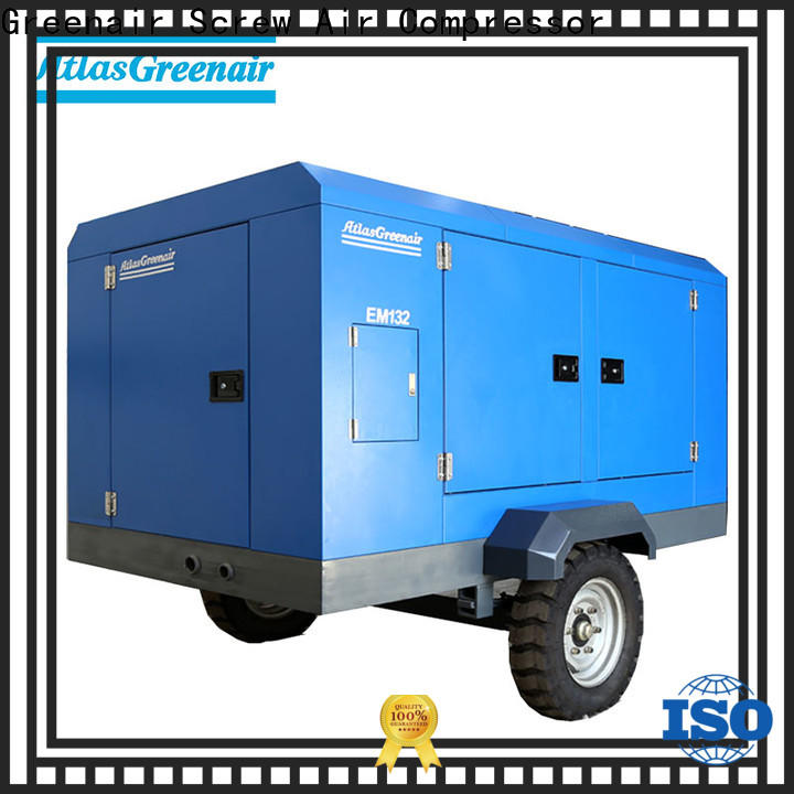 Atlas Greenair Screw Air Compressor new portable screw compressor factory wholesale