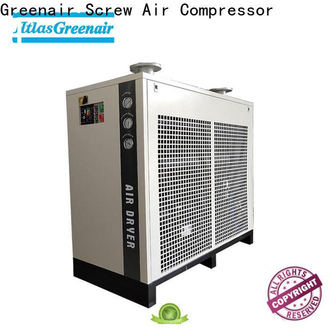 Atlas Greenair Screw Air Compressor high end air dryer for compressor company for tropical area
