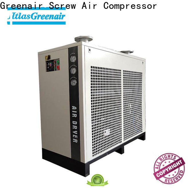 Atlas Greenair Screw Air Compressor high end air dryer for compressor company for tropical area