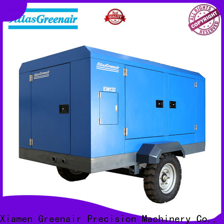 Atlas Greenair Screw Air Compressor portable screw compressor with three stage oil-air separator wholesale