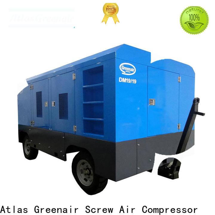 Atlas Greenair Screw Air Compressor mobile mobile air compressor factory for sale
