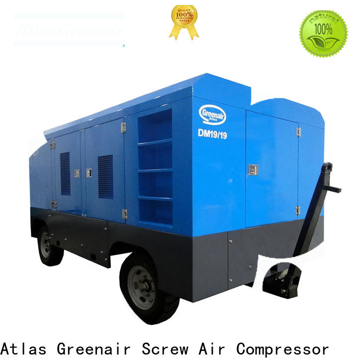 Atlas Greenair Screw Air Compressor mobile mobile air compressor factory for sale