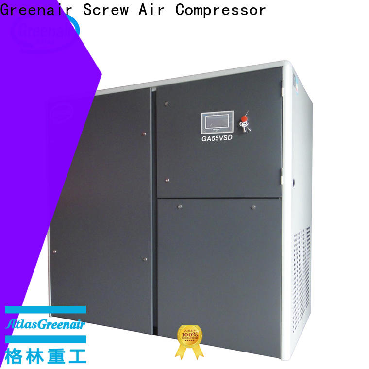 Atlas Greenair Screw Air Compressor cheap variable speed air compressor supplier customization