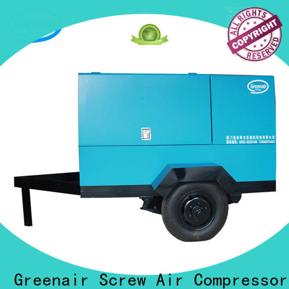 professional portable screw compressor with three stage oil-air separator wholesale