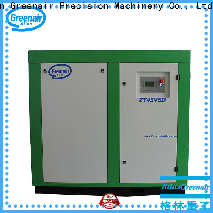 Atlas Greenair Screw Air Compressor new oil free rotary screw air compressor factory for tropical area
