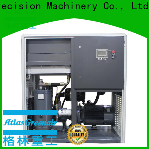 two stage fixed speed rotary screw air compressor with an oil content for tropical area