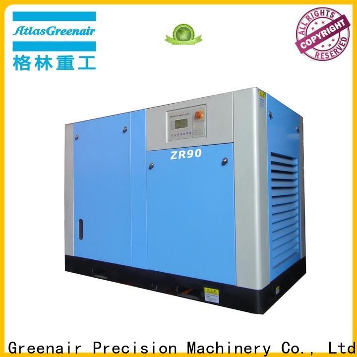 Atlas Greenair Screw Air Compressor oil free rotary screw air compressor with high efficient air end for sale