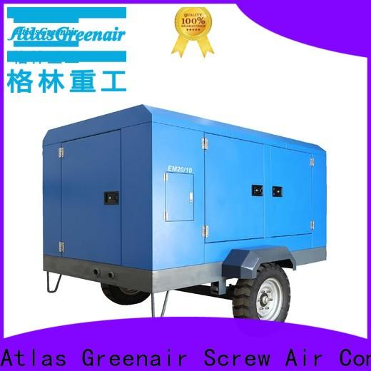 latest portable screw compressor with three stage oil-air separator for sale