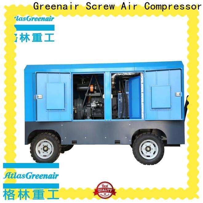 Atlas Greenair Screw Air Compressor screw portable diesel air compressor factory for sale