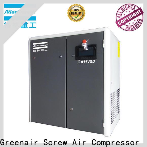 Atlas Greenair Screw Air Compressor variable speed air compressor with a single air compressor for tropical area