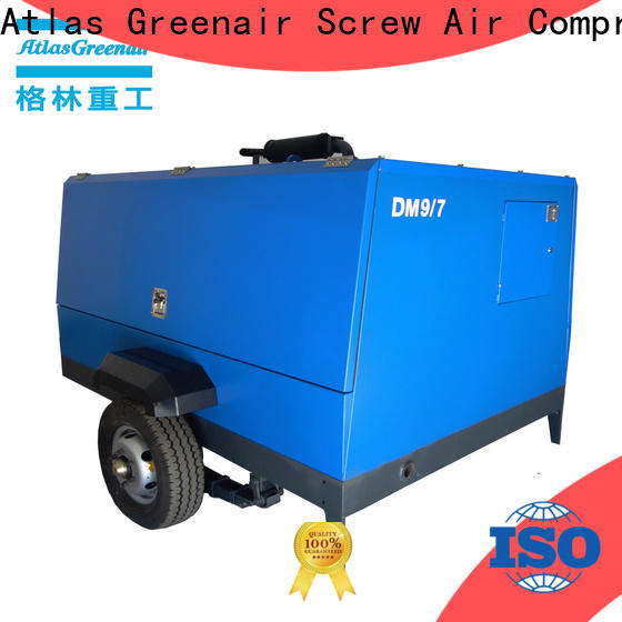 factory price mobile air compressor with intelligent control system for tropical area