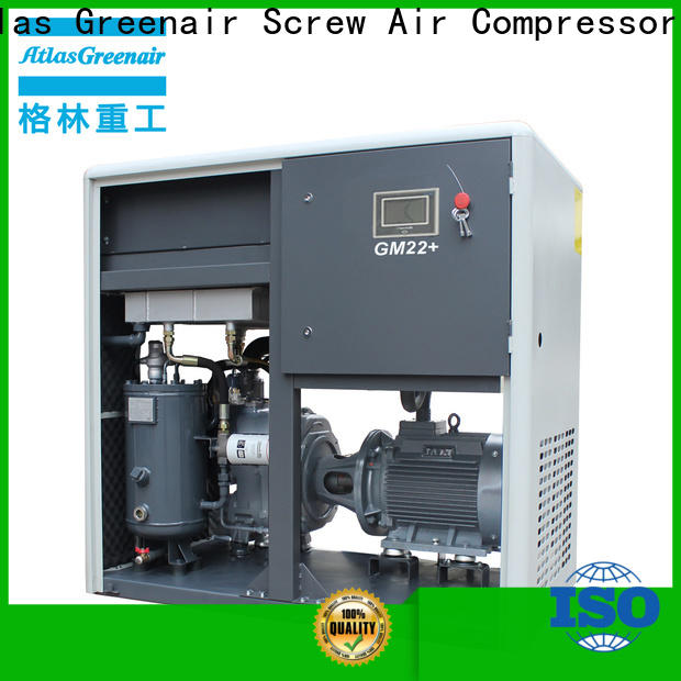 Atlas Greenair Screw Air Compressor professional vsd compressor atlas copco with four pole motor for sale