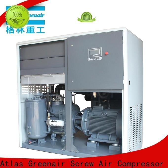 Atlas Greenair Screw Air Compressor custom vsd compressor atlas copco with four pole motor for sale