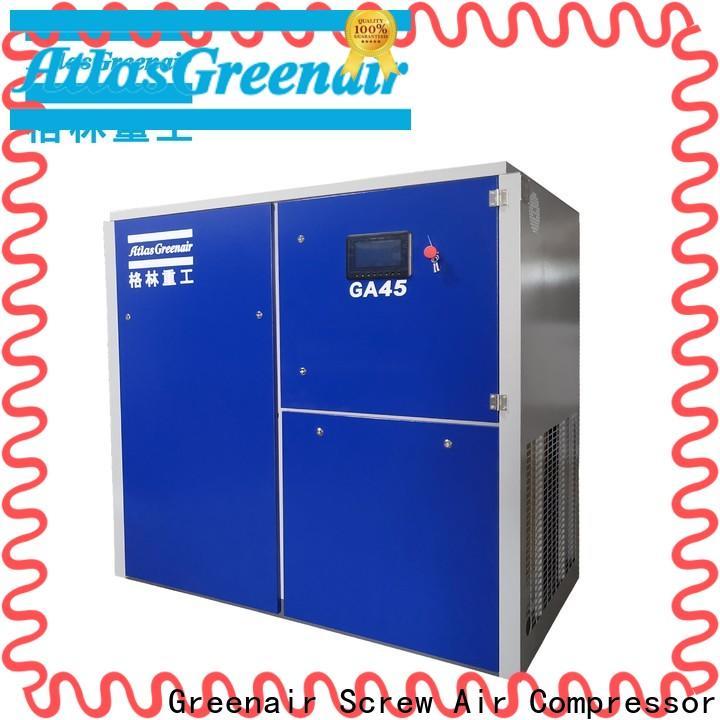 Atlas Greenair Screw Air Compressor two stage fixed speed rotary screw air compressor with an oil content wholesale