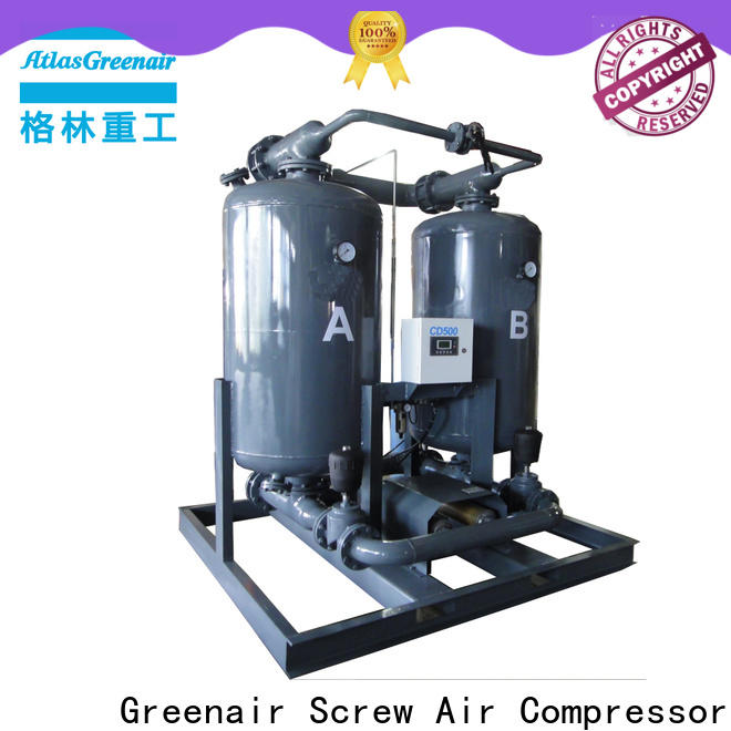 Atlas Greenair Screw Air Compressor wholesale desiccant air dryer with an air compressed actuated valve for sale