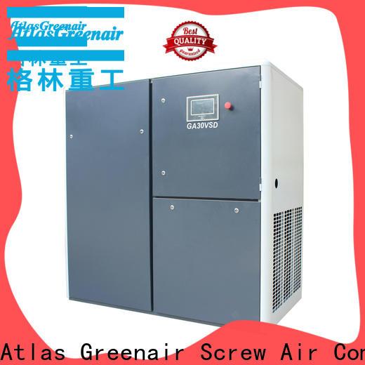 Atlas Greenair Screw Air Compressor cheap variable speed air compressor with four pole motor for sale