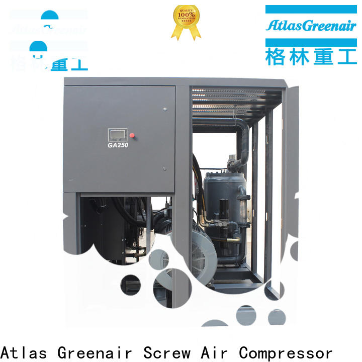 Atlas Greenair Screw Air Compressor high quality fixed speed rotary screw air compressor company for tropical area
