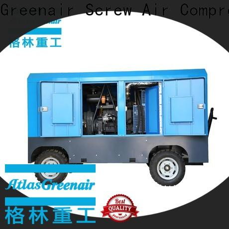 Atlas Greenair Screw Air Compressor high quality mobile air compressor with filtration and cooling system for tropical area