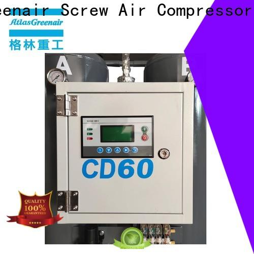 Atlas Greenair Screw Air Compressor desiccant dryer for busniess for a high precision operation