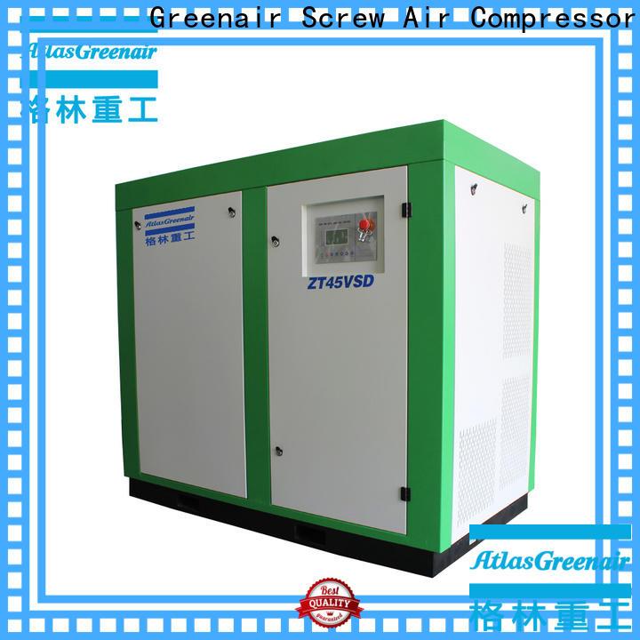 Atlas Greenair Screw Air Compressor oil free rotary screw air compressor factory for tropical area