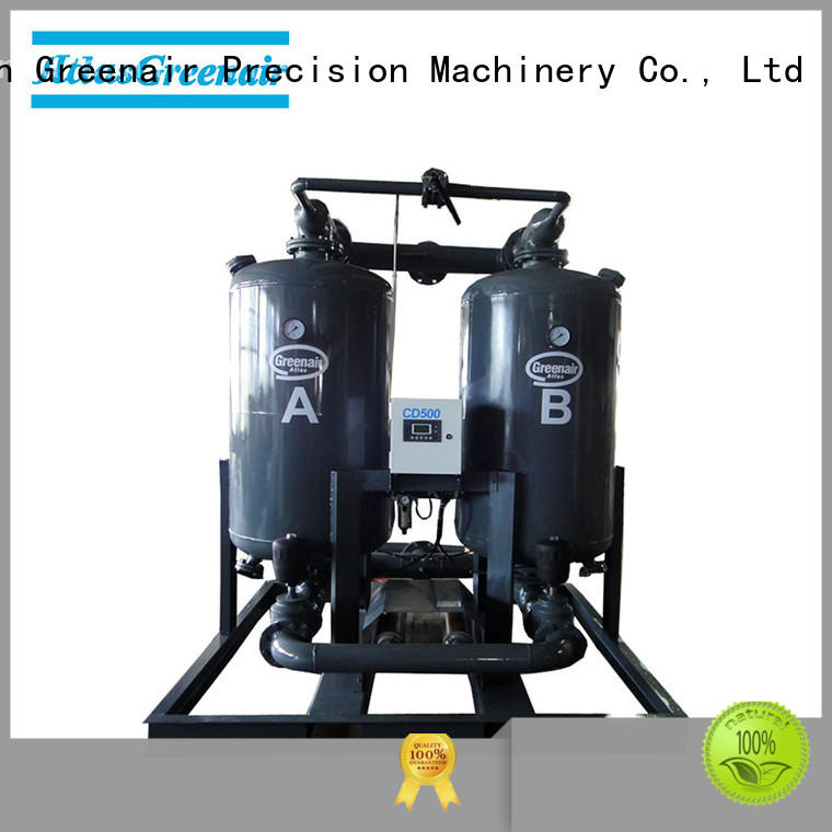 high end adsorption air dryer with an air compressed actuated valve for tropical area