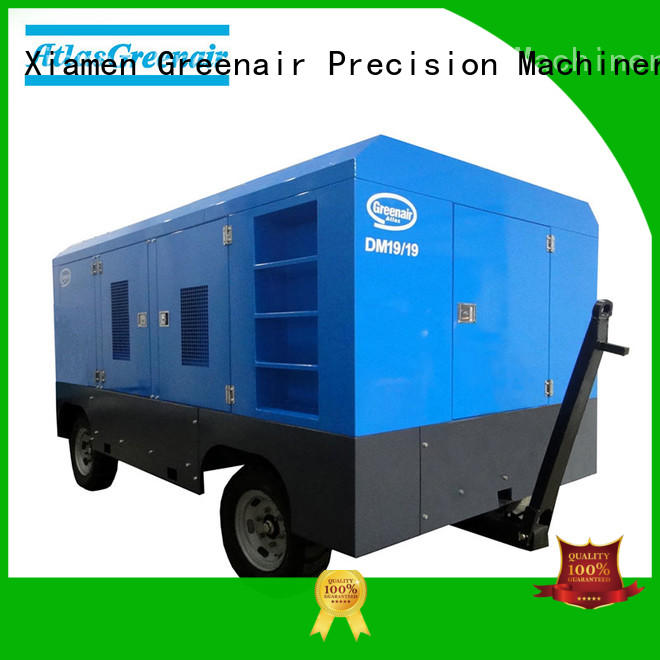 Atlas Greenair Screw Air Compressor portable diesel air compressor with intelligent control system for sale