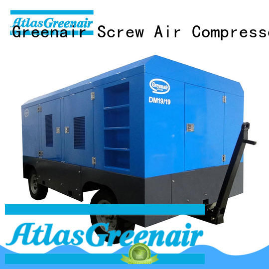 Atlas Greenair Screw Air Compressor portable diesel air compressor manufacturer design