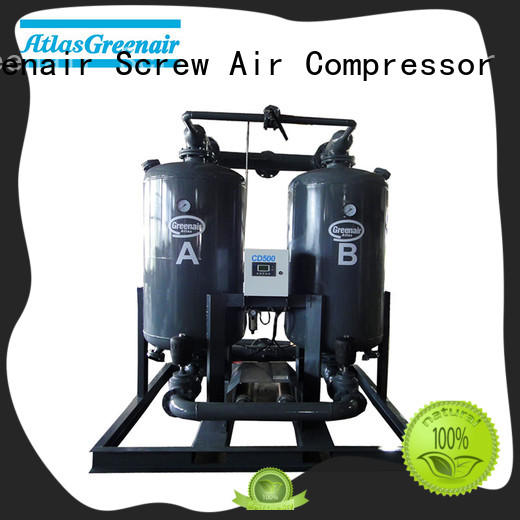 Atlas Greenair Screw Air Compressor best desiccant air dryer supplier for a high precision operation