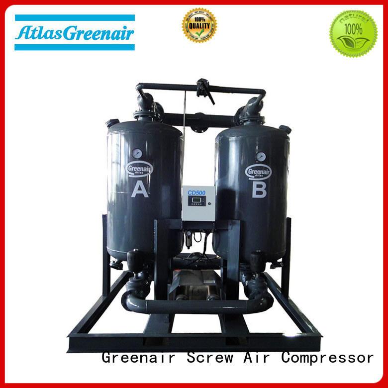 Atlas Greenair Screw Air Compressor best desiccant air dryer company for a high precision operation