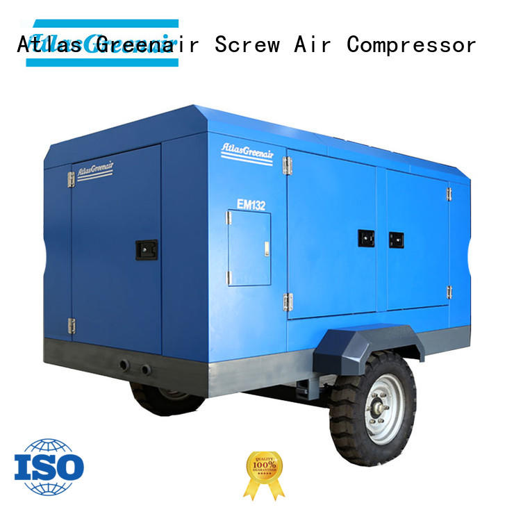customized electric rotary screw air compressor with three stage oil-air separator for sale