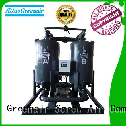 cd twin tower desiccant air dryer cd for tropical area Atlas Greenair Screw Air Compressor