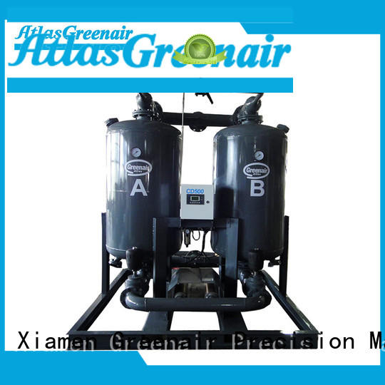 Atlas Greenair Screw Air Compressor efficient desiccant air dryer for a high precision operation