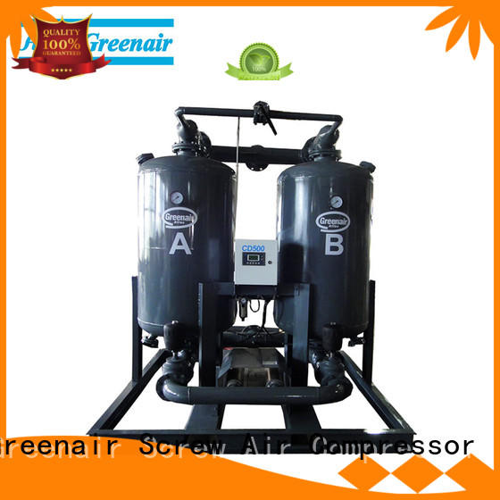 high end heatless desiccant compressed air dryer with a special silencer for tropical area Atlas Greenair Screw Air Compressor
